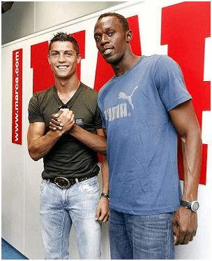 cr7 usain bolt